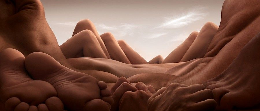 Incredible Landscapes Made Out Of Bodies Human Body Art Carl Warner Body Photography