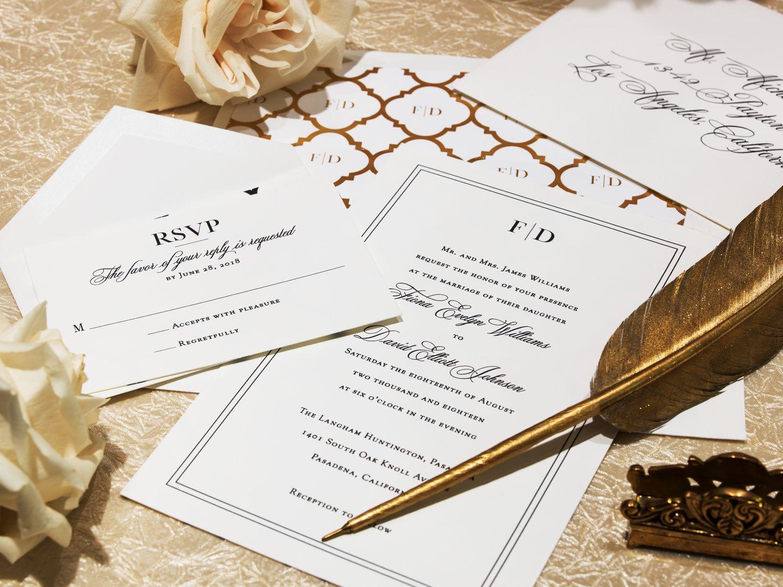 Pin by The Langham Huntington, Pasadena: Weddings on Invitations ...