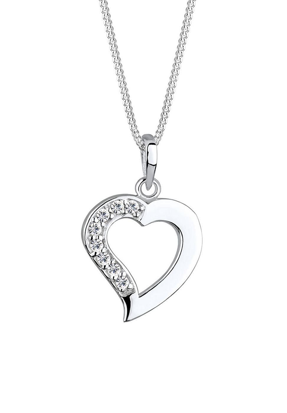Elli Halskette »Herz Swarovski Kristalle« kaufen   OTTO
