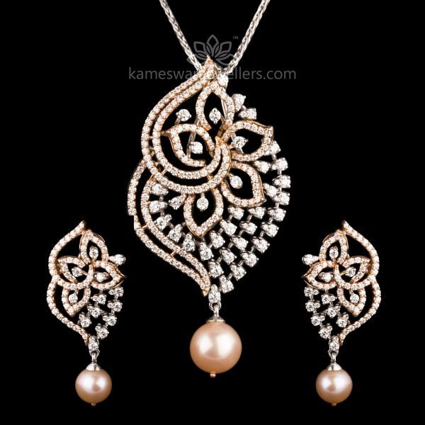 04032d1fb04f09 Aranya Diamond Pendant Set | Pendant-@-Broches | Diamond pendant ...