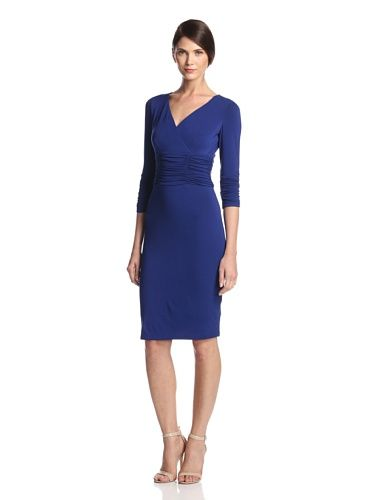 NUE by Shani Women's Ruched Waist Dress (Ink)