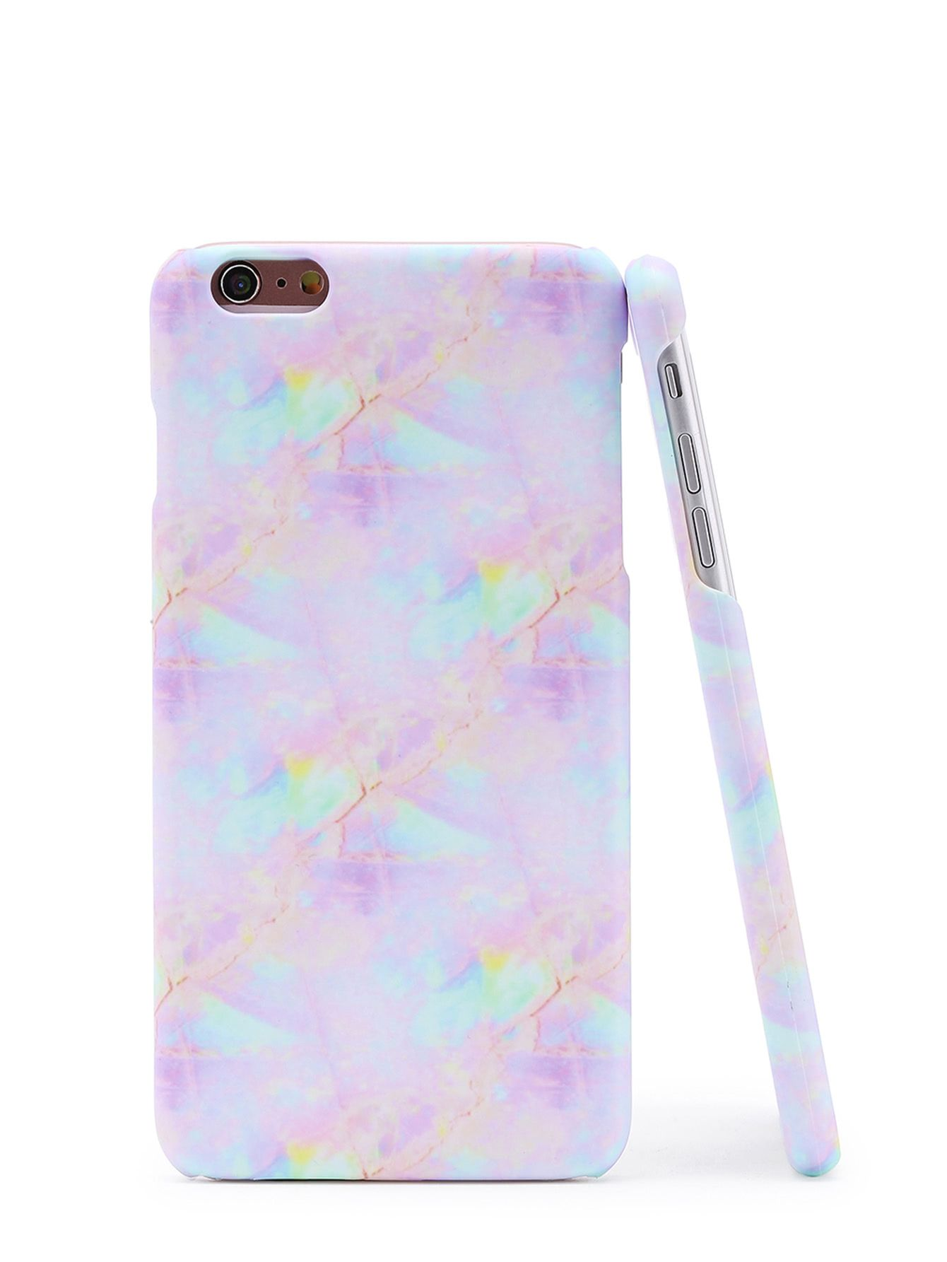 b928ae2e61 Ultra Violet Shop Iridescent Marble Print iPhone Case online. SheIn offers  Iridescent Marble Print iPhone Case & more to fit your fashionable needs.