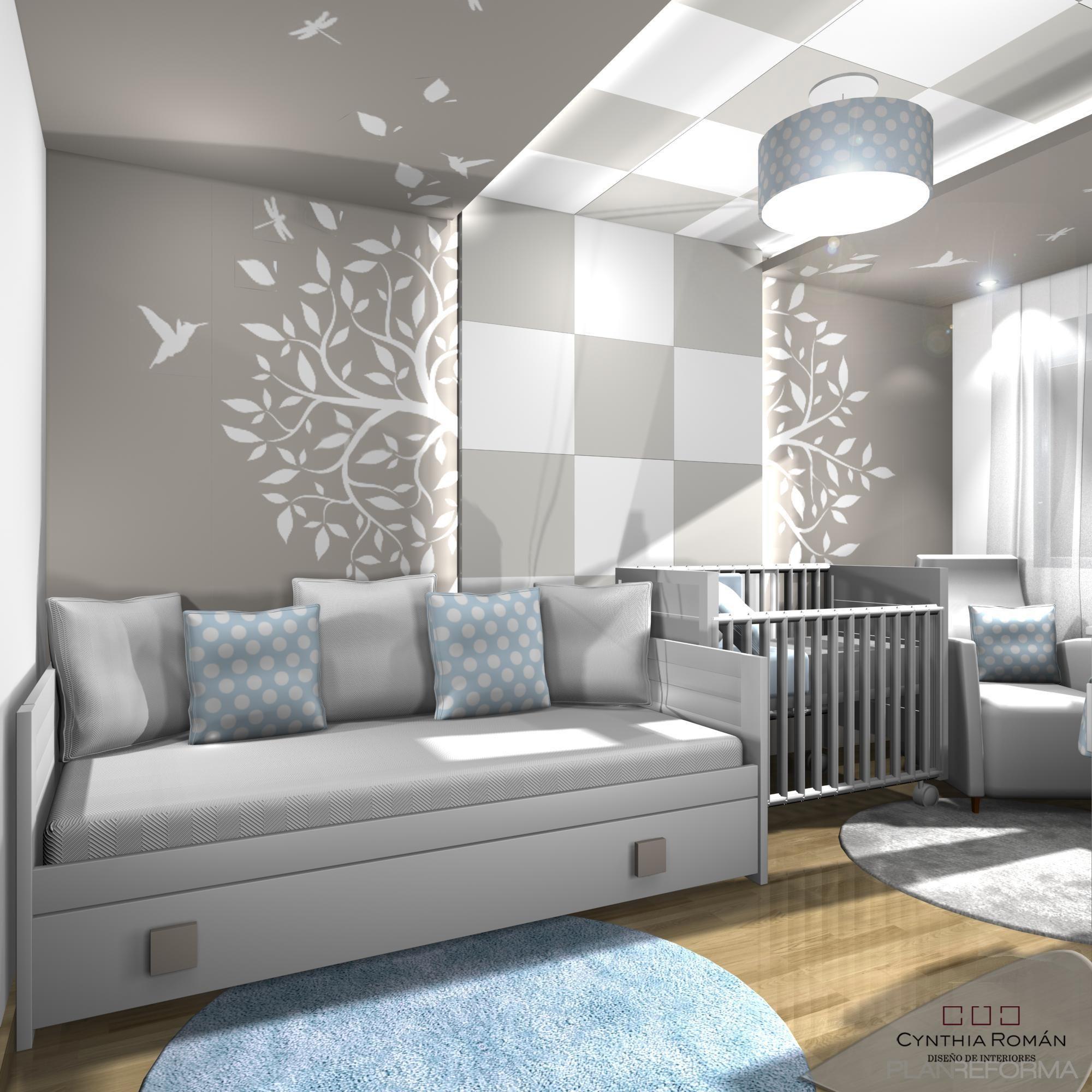 Dormitorio Salon Estilo Moderno Color Blanco Gris Dise Ado Por