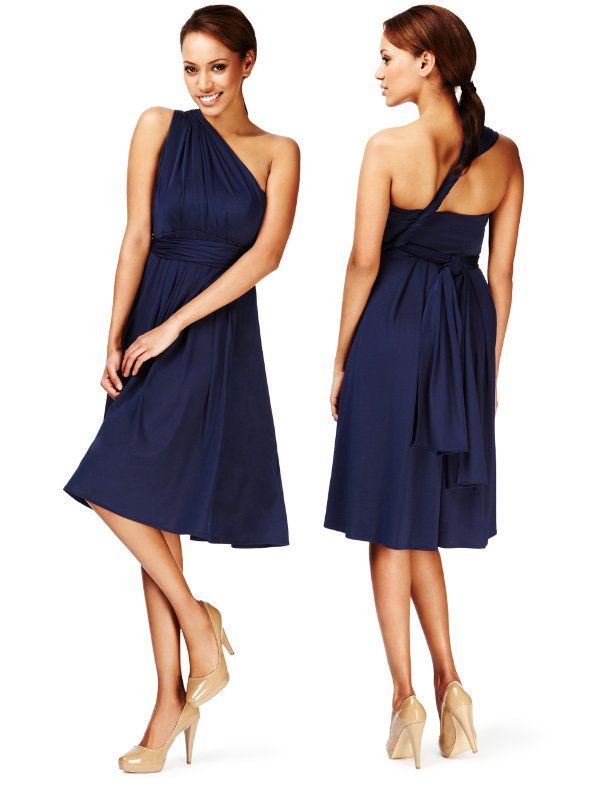 M&S Collection Slinky Multiway Dress - Marks & Spencer Wore this to ...