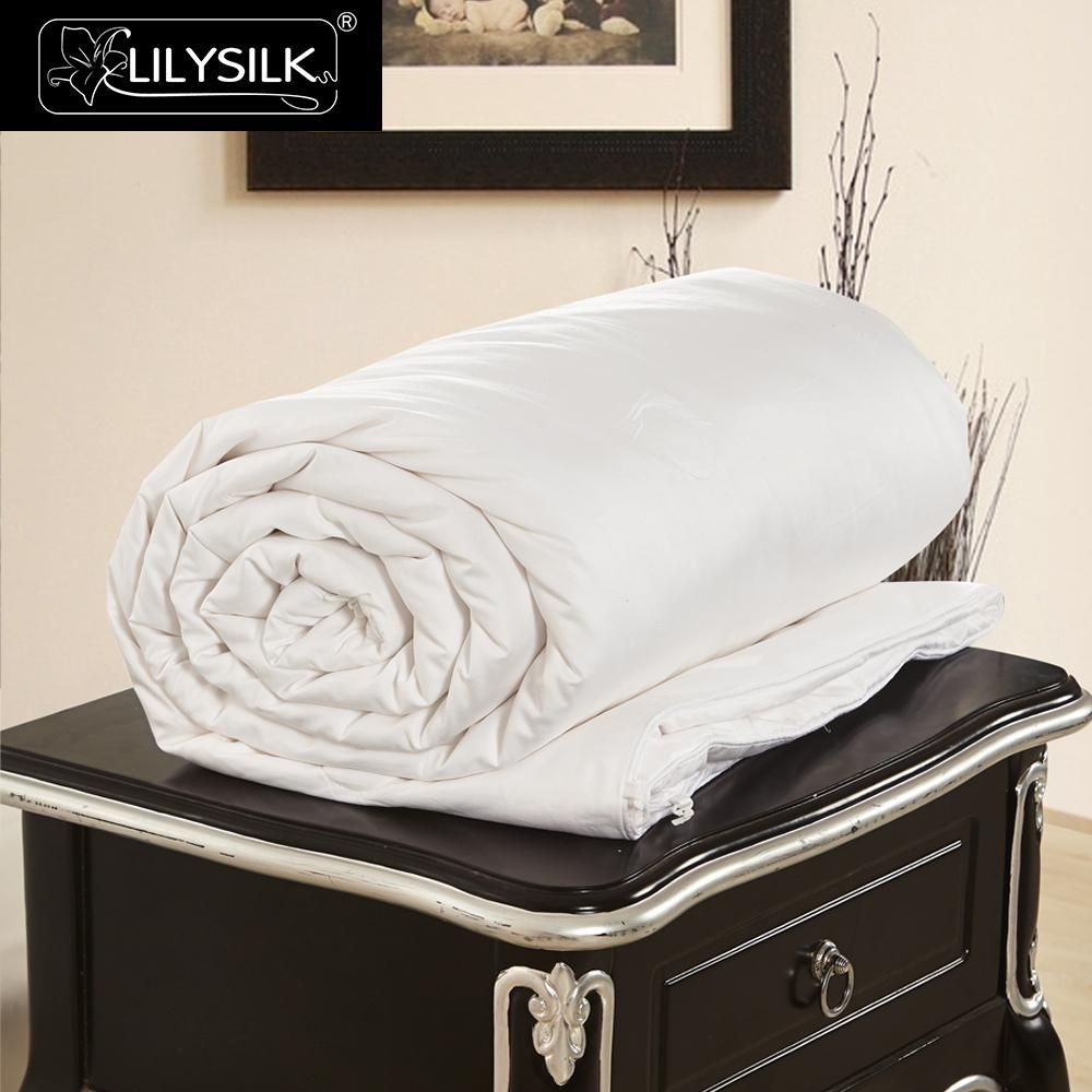 Lilysilk summer cotton covered silk comforter pure and natural
