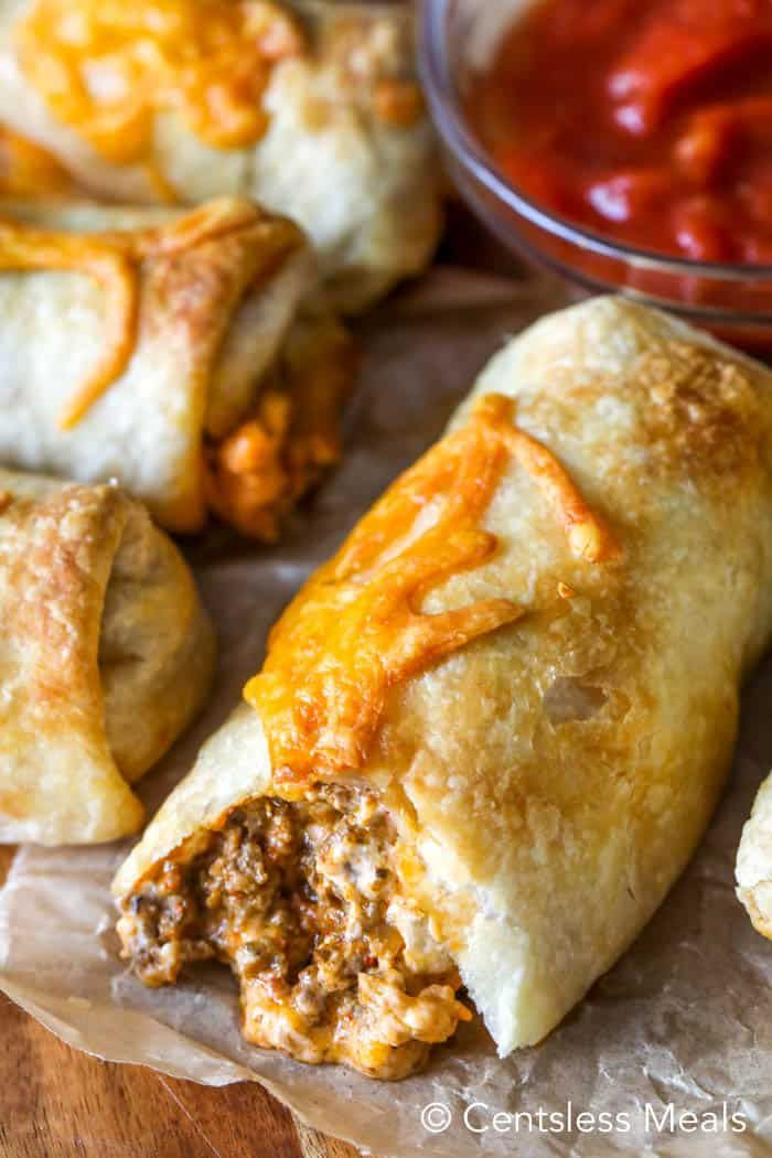 Cheesy Taco Pockets {Great Appetizer or Dinner!} - CentsLess Meals
