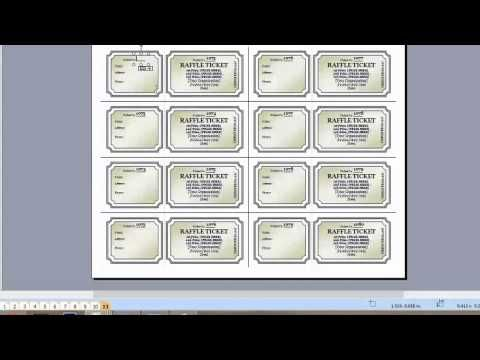 How to add more pages for Raffle Tickets - Microsoft Word - create raffle tickets in word