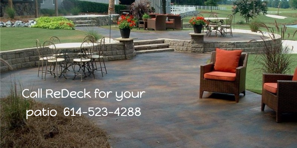 Call ReDeck for your patio  614-523-4288
