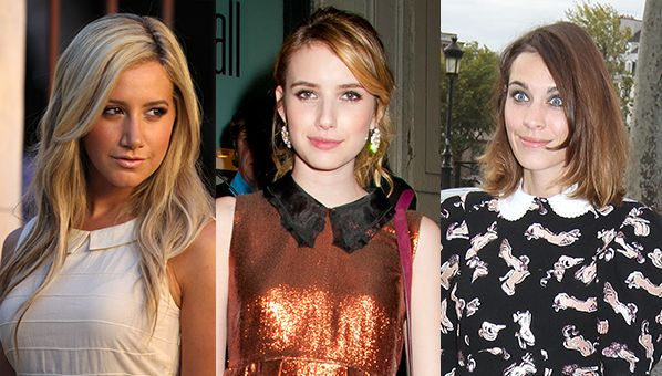 celebtrends-peterpancollar  Alexa Chung, Emma Roberts and Ashley Tisdale