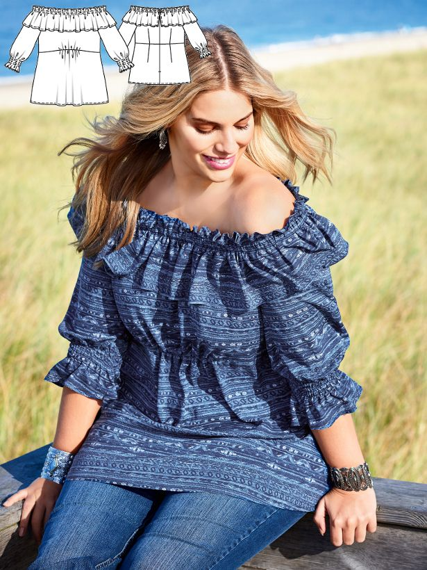 Sea Side: 8 New Plus Size Women\'s Sewing Patterns   Sewing Patterns ...