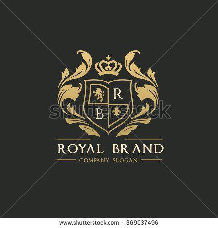 Royal brand logo crown logo lion logo crest logo vector for Expensive wallpaper companies