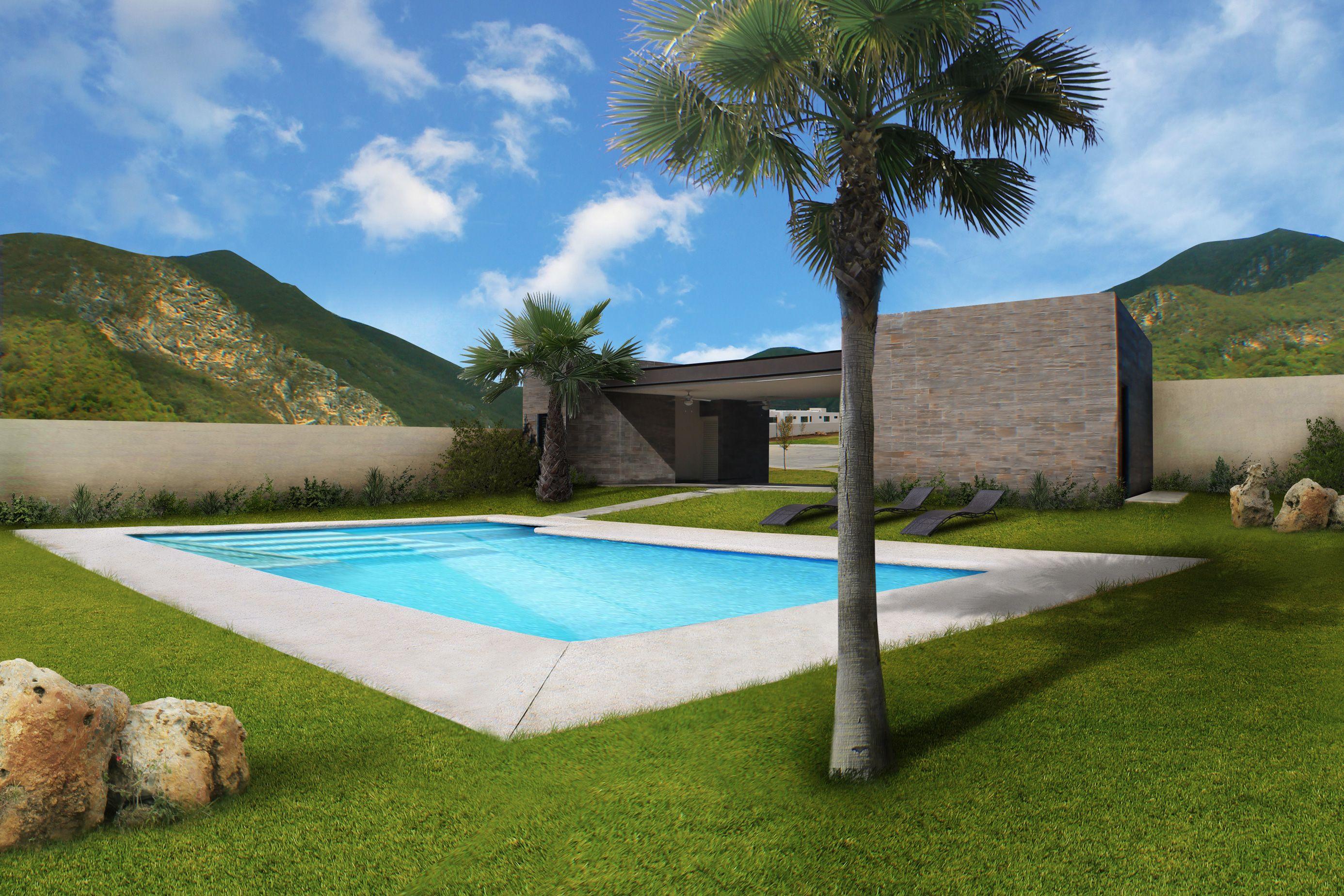 Casa Club con alberca y áreas recreativas para disfrutar en familia #casas #residencias #monterrey #home #familia #alberca #fraccionamiento #casa #casaclub #piscina