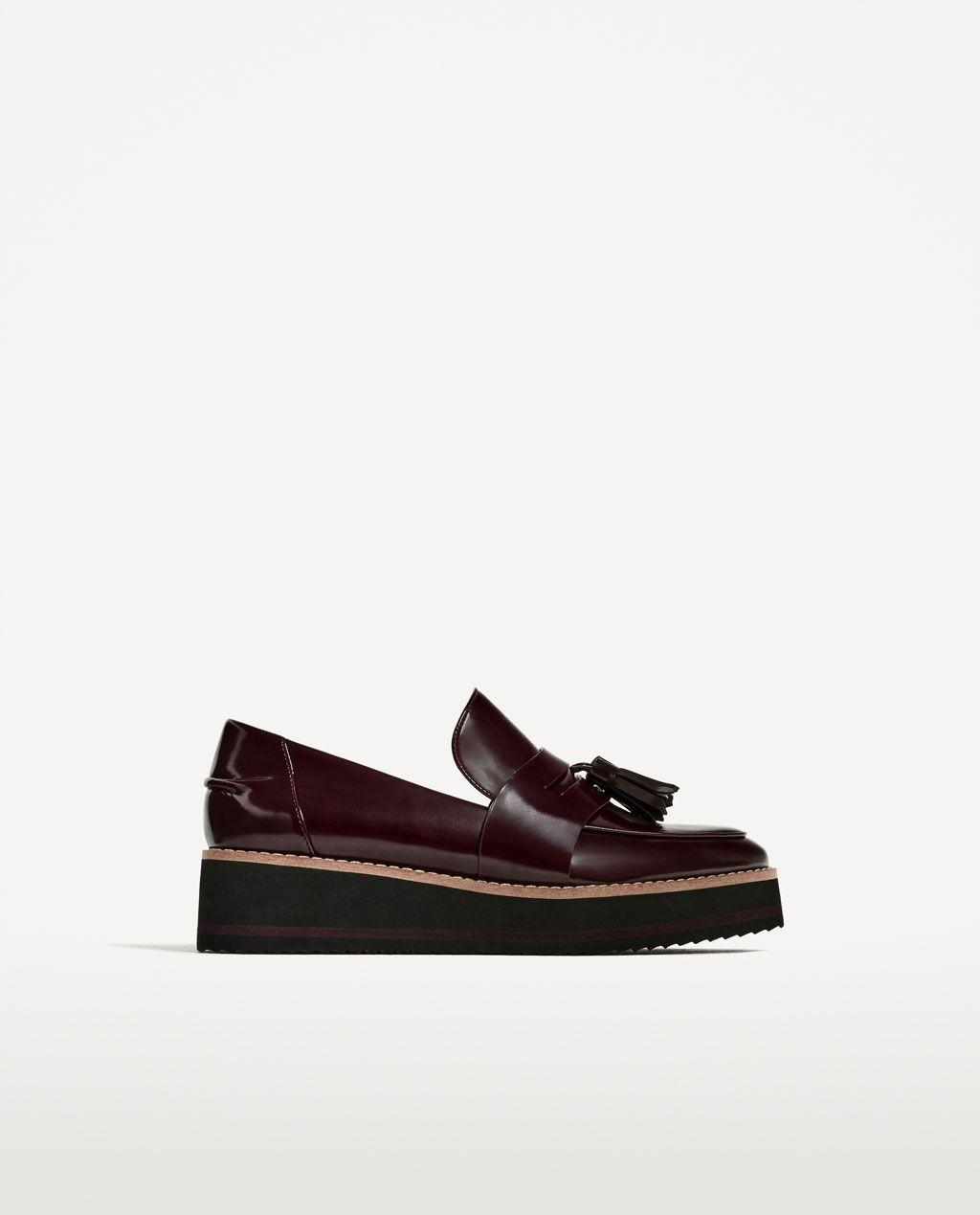 02887ce48ec  50 Zara loafers FLATFORM LOAFERS-SHOES-WOMAN