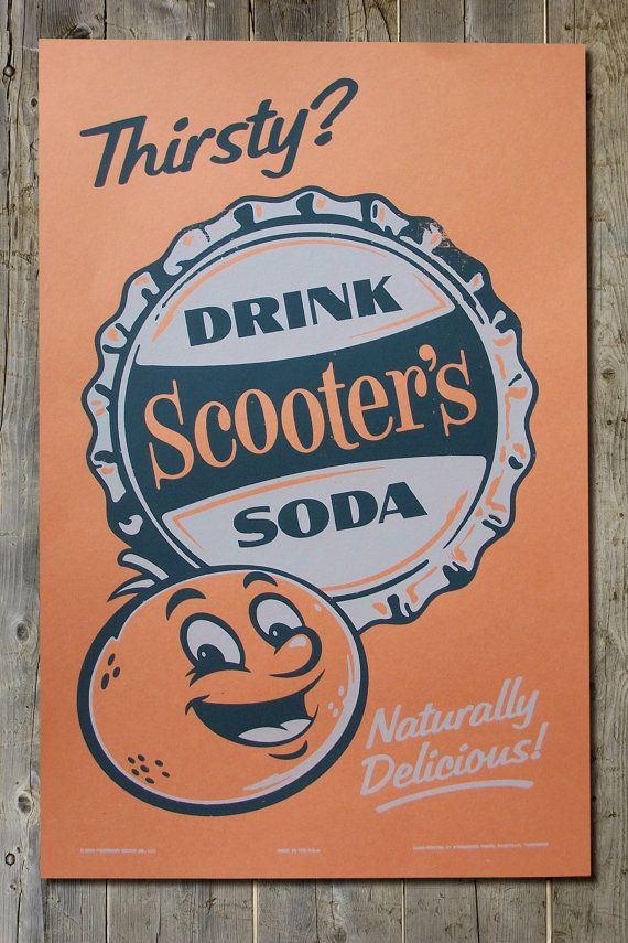 Scooters Retro Americana Vintage Soda Pop By FarmhandDesign 2000