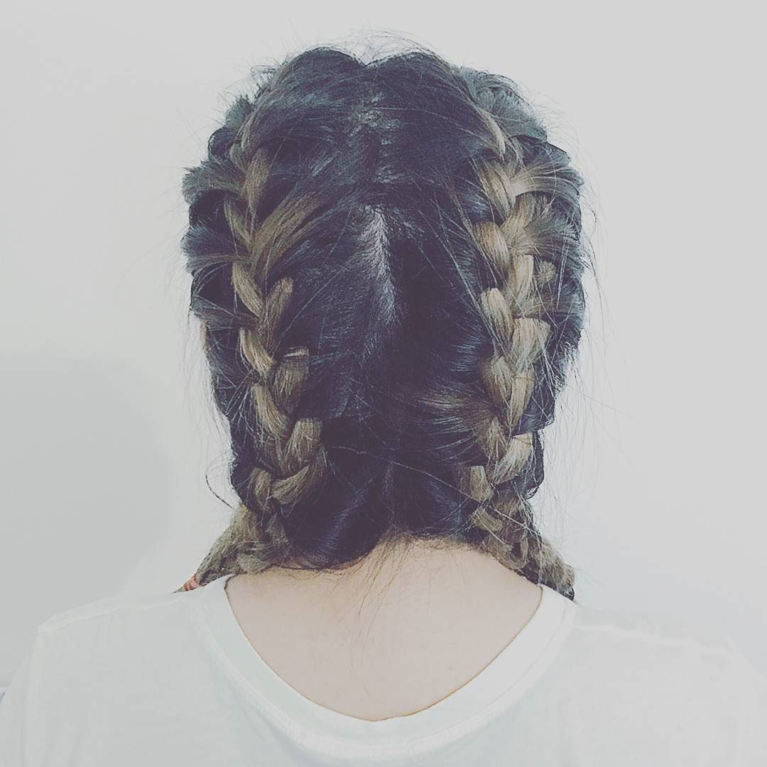First attempt. I'm ready for HHLS. #braid #hairstyle #diy #plaited by ele.insta
