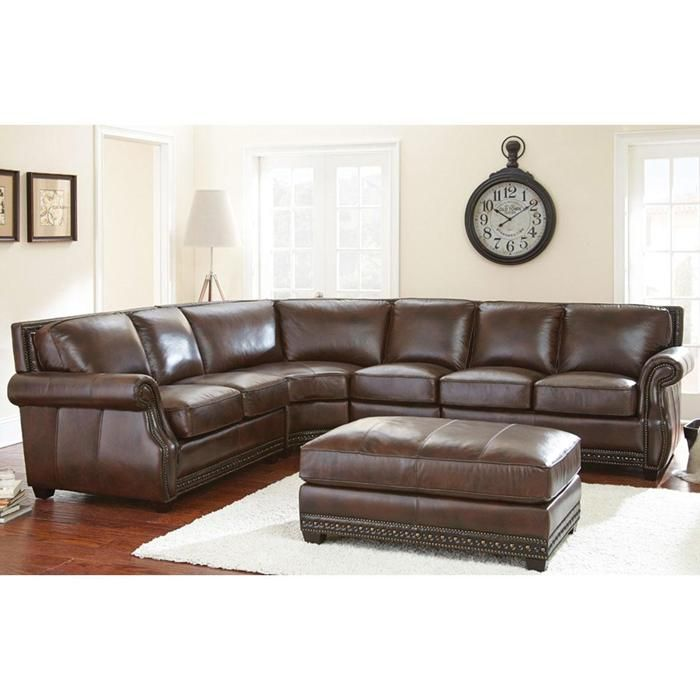 Henry 4 Piece Sectional in Antique Tobacco