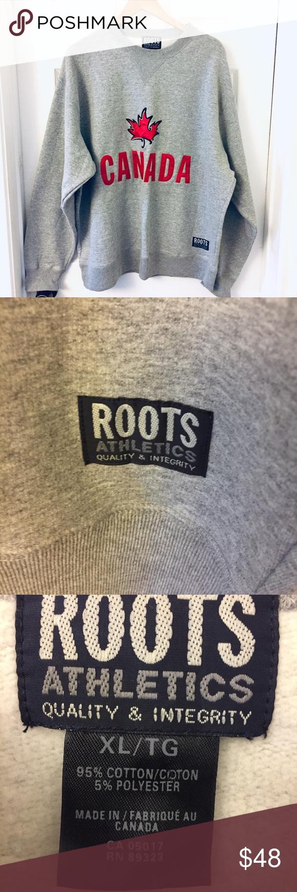 Roots Like New Sweatshirt Canada Maple Leaf Brand
