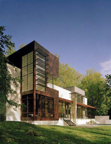 Modern House Volets, Villa Contemporaine, Architecture Contemporaine,  Entrer, Maison Carré, Maison