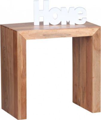 Wohnling WOHNLING Beistelltisch Massiv Holz Akazie 60 X 35 Cm Wohnzimmer Tisch Design Dunkel Braun Landhaus Stil Couchtisch Jetzt Bestellen Unter