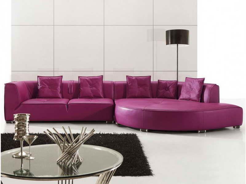 Purple Leather Sectional Sofas Purple Furniture Modern Sofa