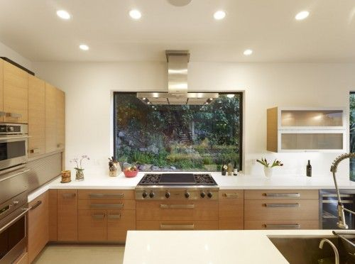 Cooktop In Front Of Window Forget An Overhead Purchase Down Draft Vent