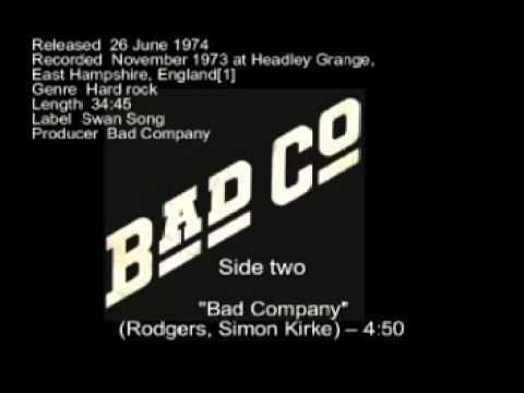 Studio Album By Bad Company Released 26 June 1974 Recorded