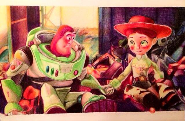 Jessie & Buzz Lightyear (Drawing by C__Yan @Instagram) #ToyStory3