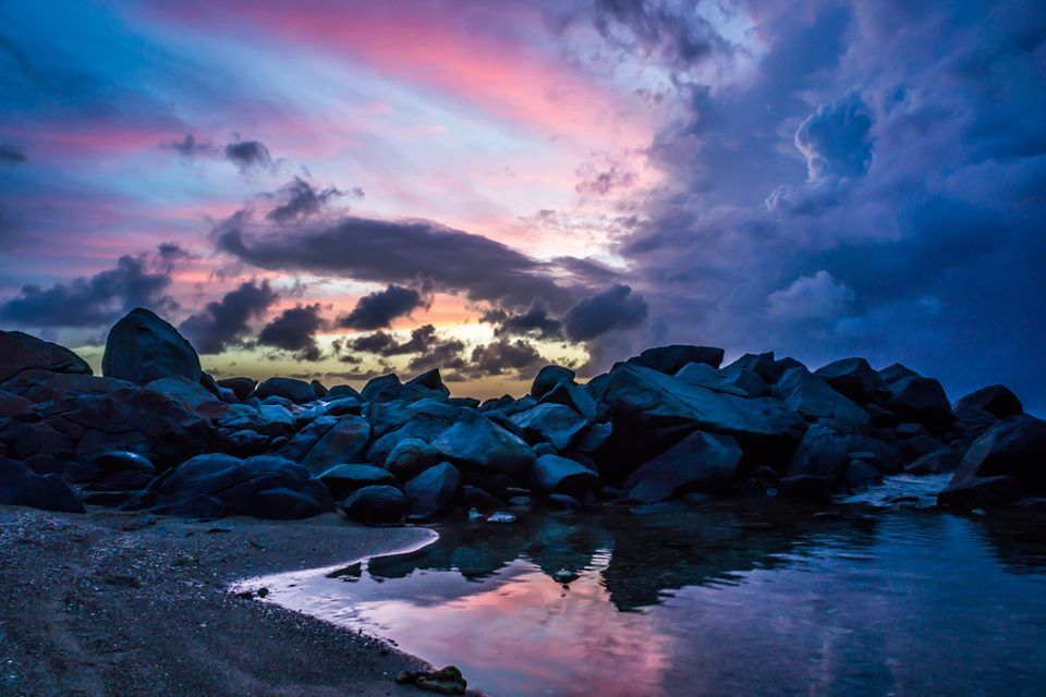 Sunset at The Baths...  #Virgin Gorda# #Caribbean# #BVI# #tropical# #paradise# #snorkeling# #reefs#  #beach#