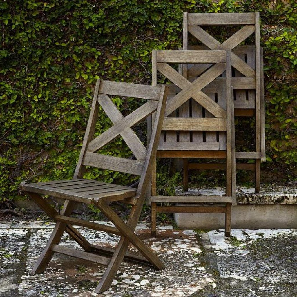 Outdoor Vintage Folding Wooden Chair Furniture Sillas Madera Banos
