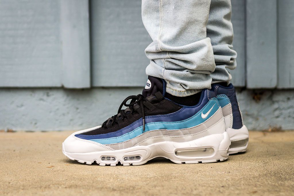 5fd91a0c121d See how the Nike Air Max 95 Essential Noise Aqua looks on feet in this  video review before you cop! Find out where to buy these Air Max 95 online!