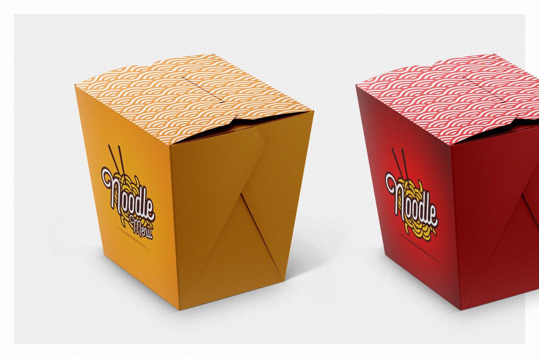 Download Noodles Box Mockup Set Ide Kemasan Kemasan Kemasan Produk