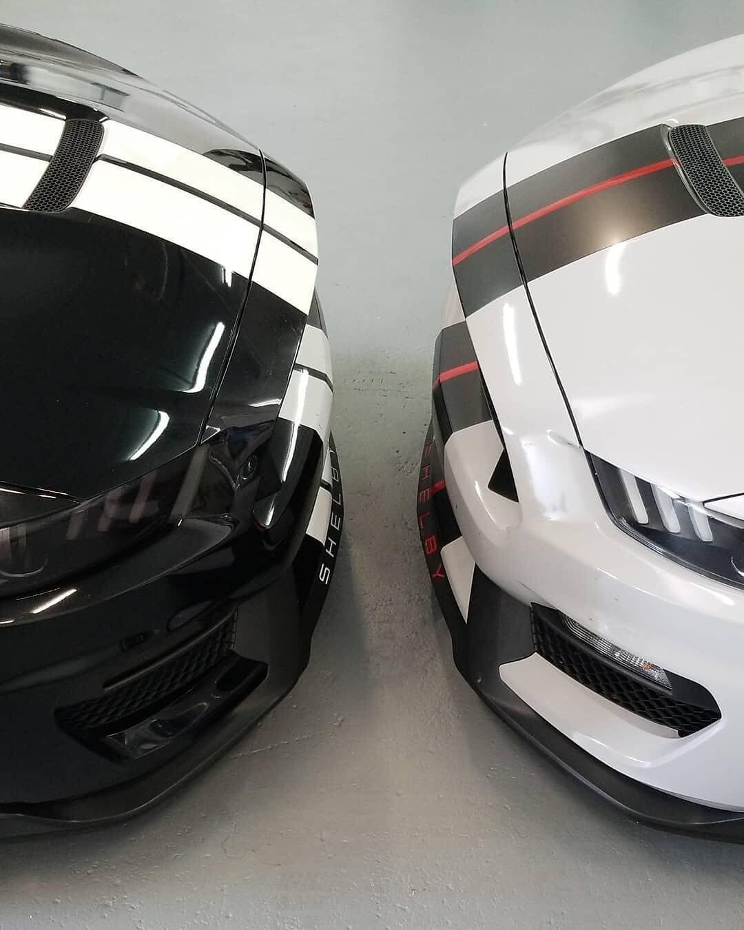 Muscle Cars, Black Vs White Shelby americanstyle