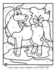 Color By Number Farm Animal Coloring Pages Coloring Pages