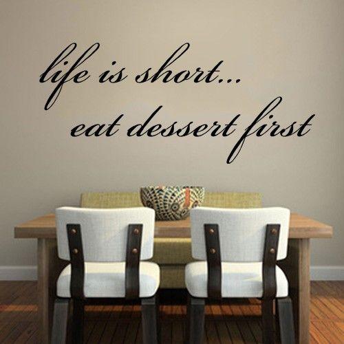 Wall Decals Canada Life Short Dessert First Wall