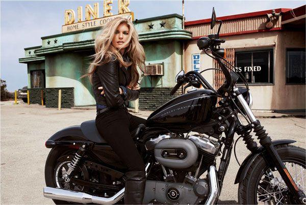 d2b0c8bd4 Harley-Davidson celebrates 3rd Annual Women Riders Month - Supermodel and  Harley-Davidson Rider Marisa Miller joins the celebration