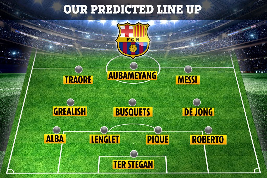 How Barcelona Could Line Up Next Season With Adama Traore Jack Grealish And Pierre Emerick Aubameyang In 2020 Pierre Emerick Aubameyang Pierre Emerick Jack Grealish