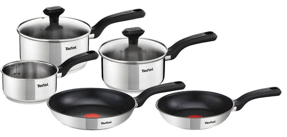 Tefal 5 Pieces Stainless Steel Cookware Sets Cookware Set