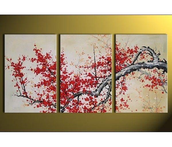 tableau triptyque arbre japonais asie pinterest arbre japonais tableau triptyque et triptyque. Black Bedroom Furniture Sets. Home Design Ideas