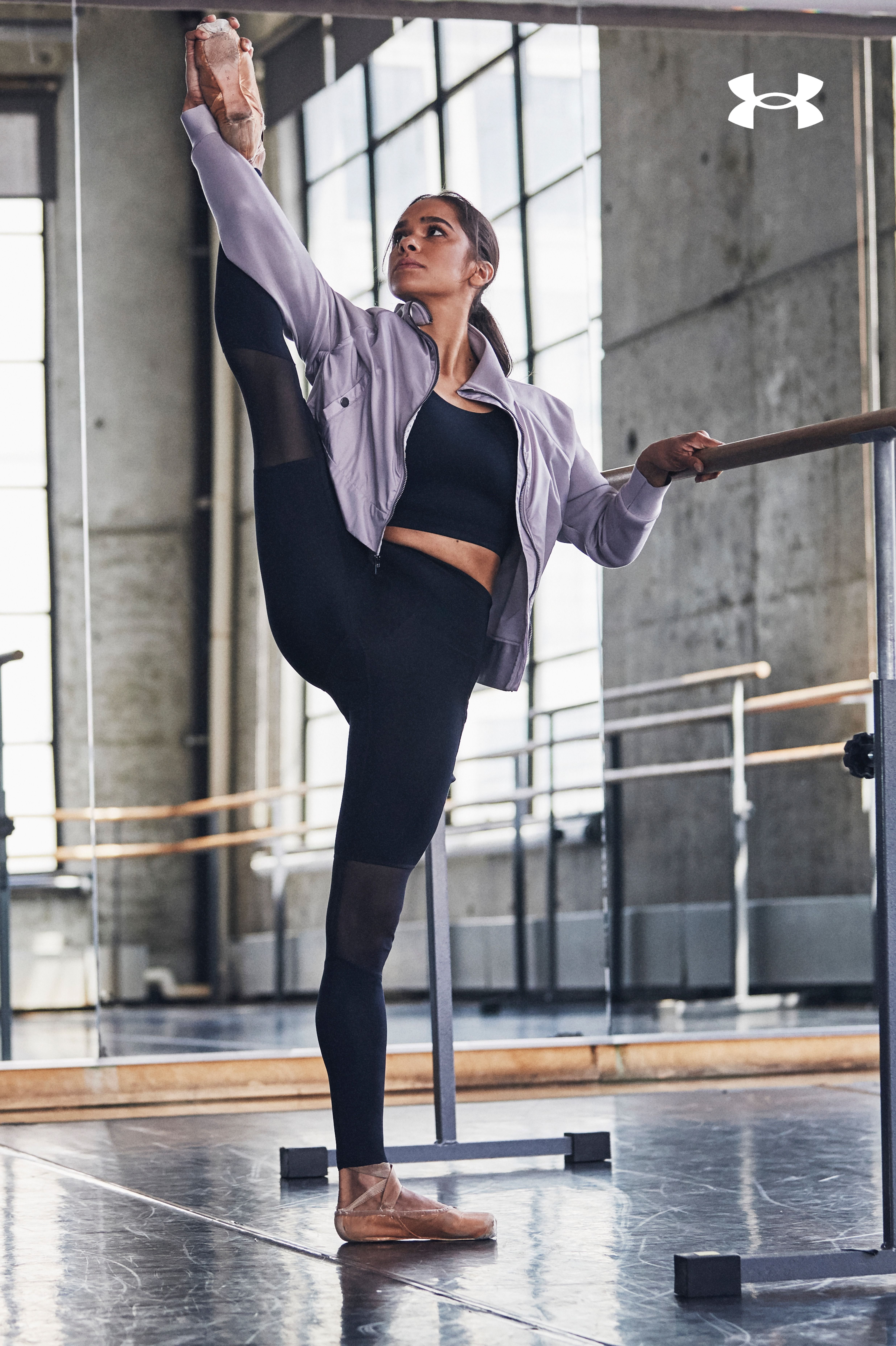 Our Misty Copeland Signature collection features ballet-inspired details, including mesh paneling an...