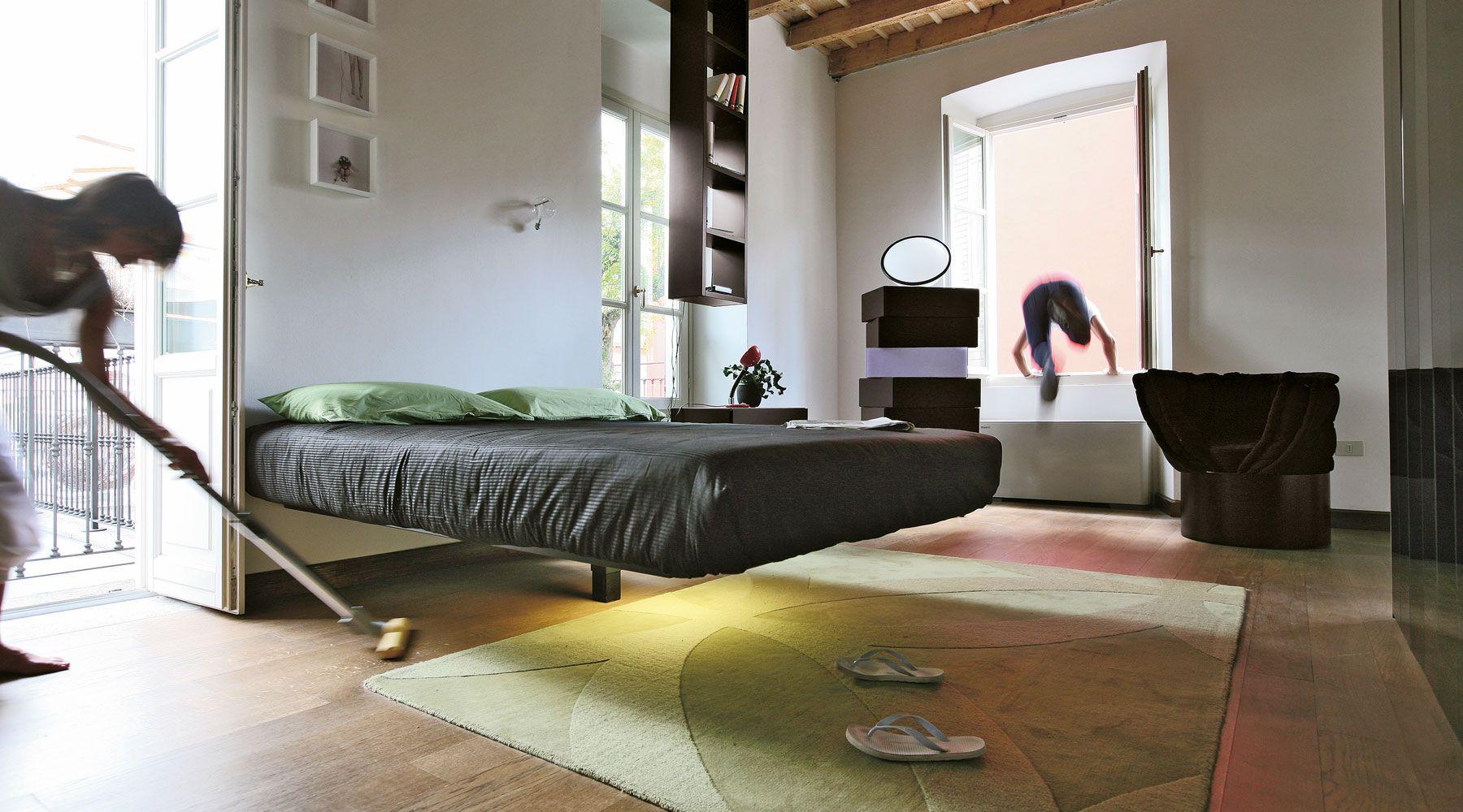 Letto-Fluttua - Copy | Beds | Pinterest | Suspended bed, Smart ...