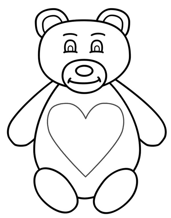 Teddy Bear Full Of Love Coloring Page Color Luna di 2020