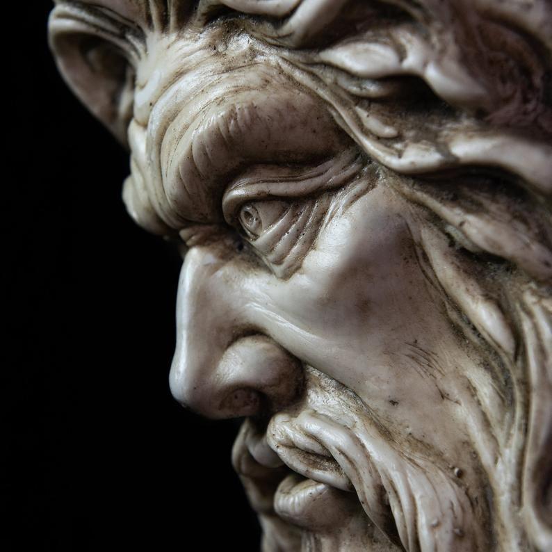 Zeus Sculpture God Of Thunder Wall Art Zeus Figure Etsy Zeus Greek Sculpture Ancient Greek Sculpture