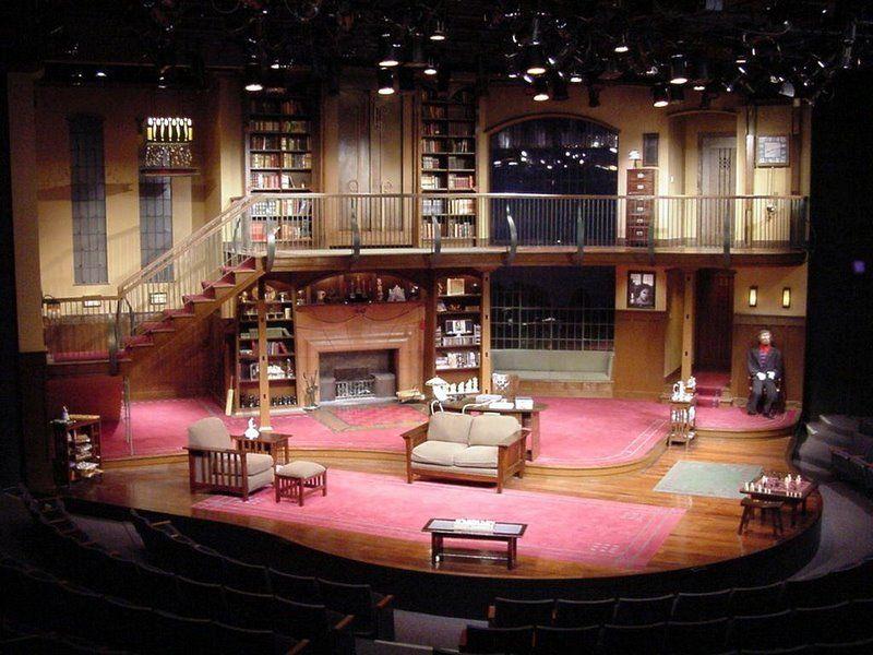 Sleuth. Studio Arena Theatre. Set design by Jeffrey D. Schneider.