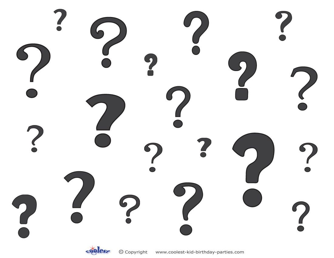 Printable Question Marks Decoration 1 This Or That Questions