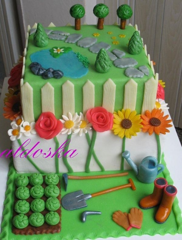 Gardening Cake Cake Let them Eat Cake Pinterest Cake
