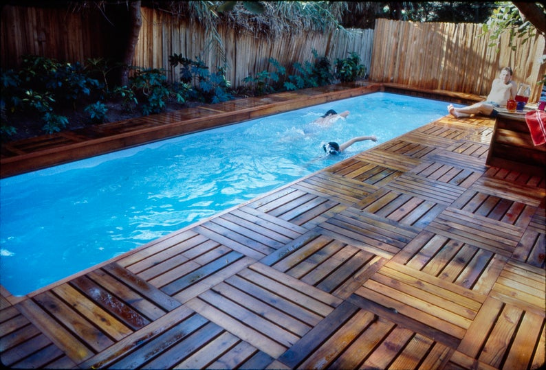 Lap Pool And Deck Plans Diy In Ground Pool Build Your Own Lap Swimming Pool And Deck Digital Plans In 2020 Diy In Ground Pool Diy Swimming Pool Backyard Pool Landscaping