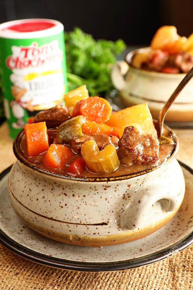 This Slow Cooker Creole Beef Stew is packed with tons of ...