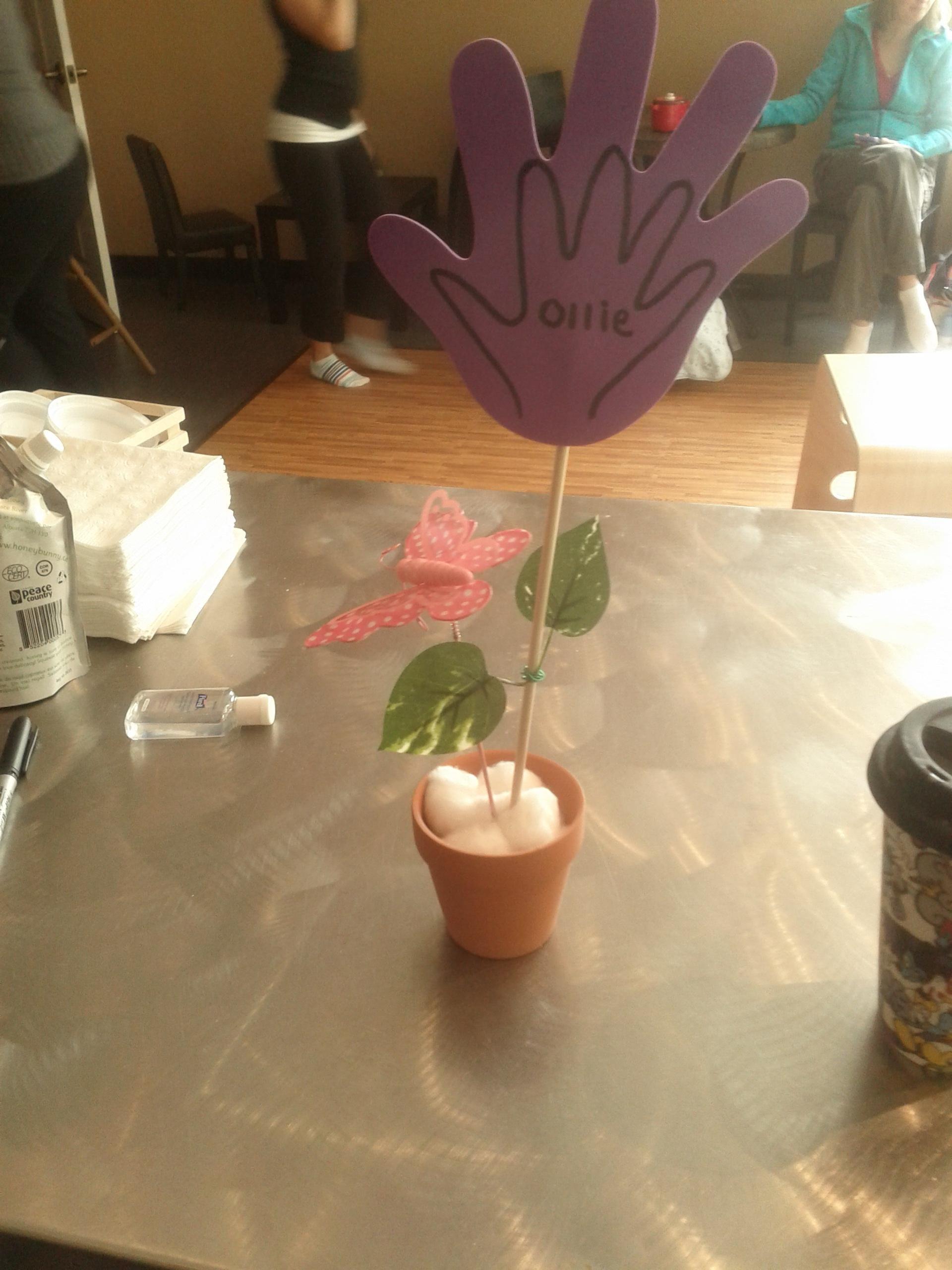 Hand print garden flowers toddler crafts crafts