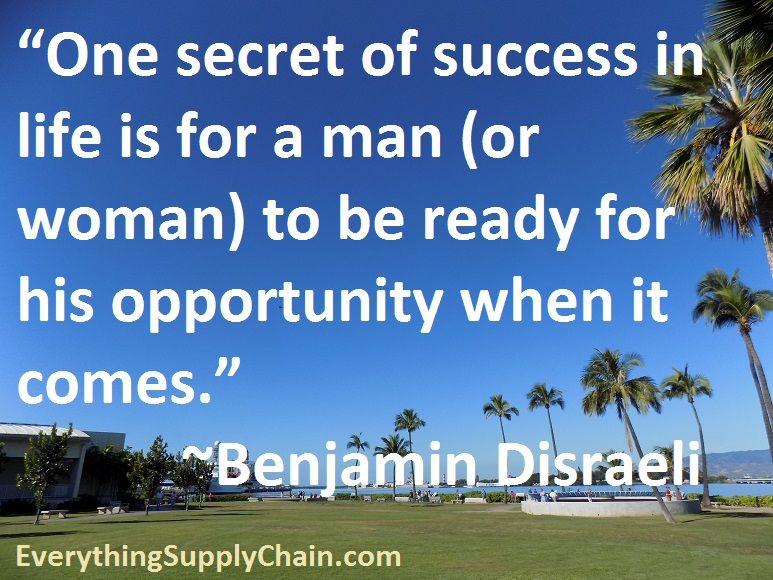 Supply Chain Benjamin Disraeli Quote Business Quotes What Is Leadership Benjamin Disraeli Quotes