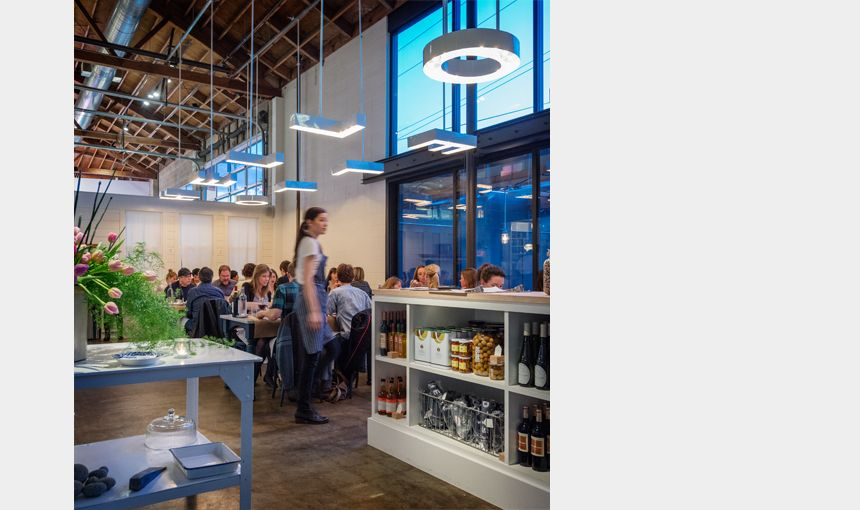 Heliotrope architects the whale wins restaurant